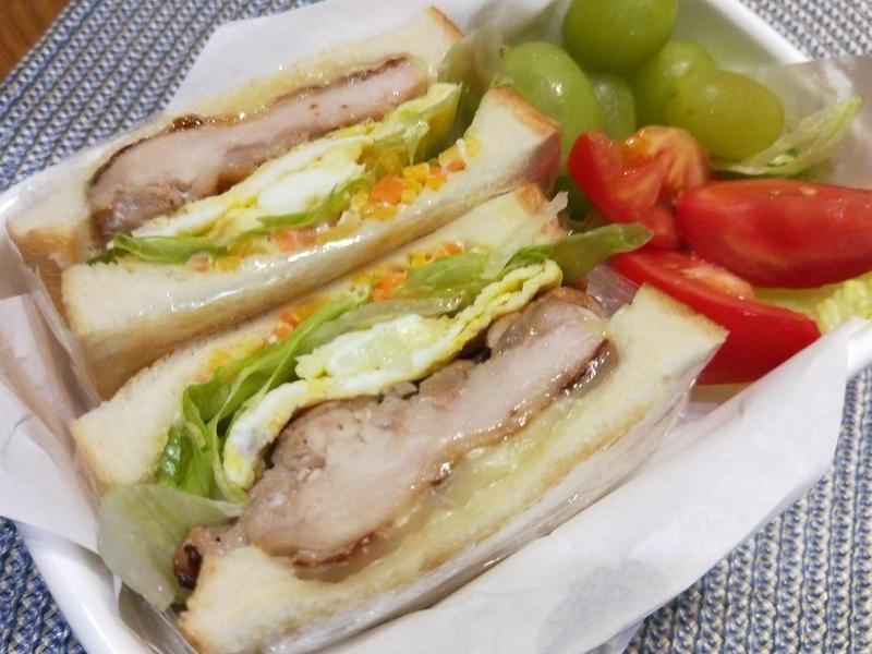 味增雞腿起司蔬菜三明治