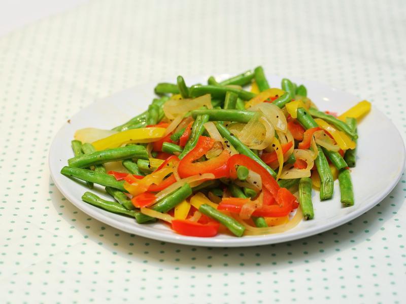 抗氧化料理 - 彩椒洋蔥四季豆