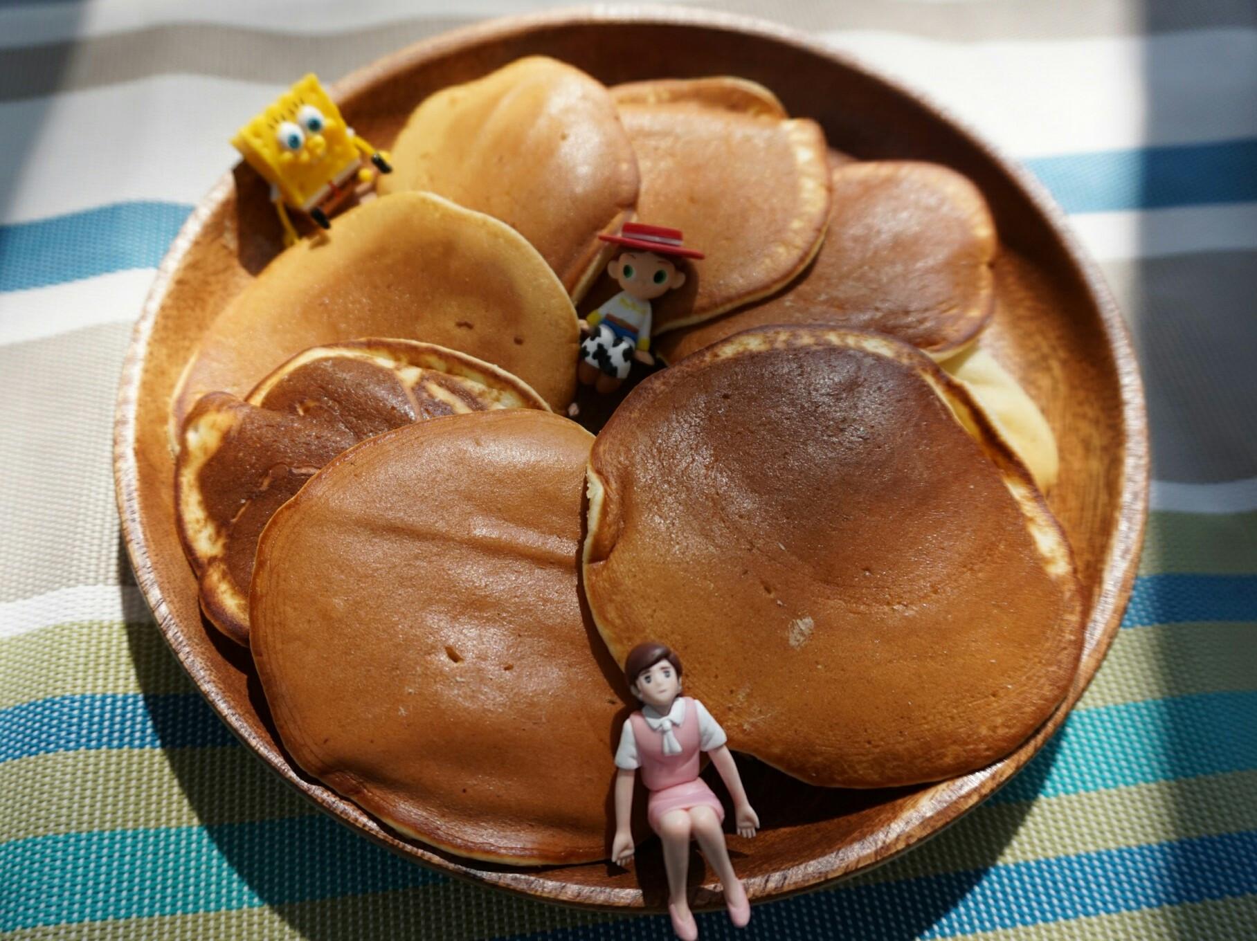 露營簡單料理。美式鬆餅