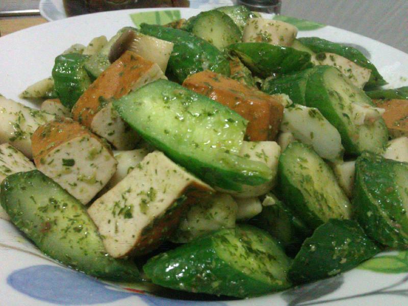 香椿醬炒黃瓜片豆干