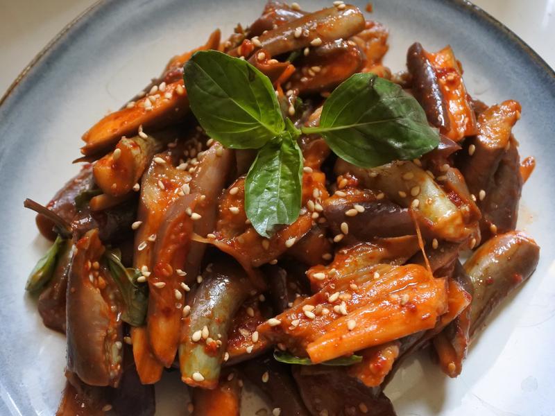 『簡易』韓式塔香茄子