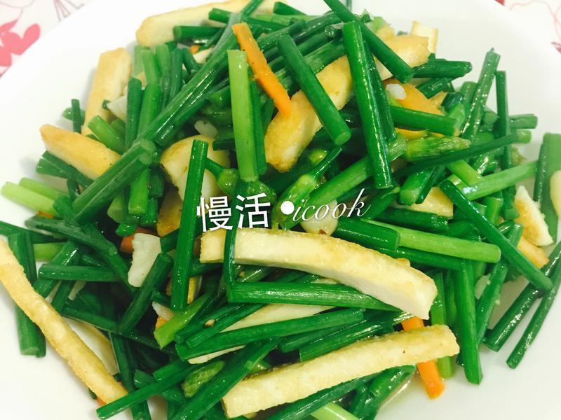 節氣料理-處暑NO.1❤韭菜豆干❤