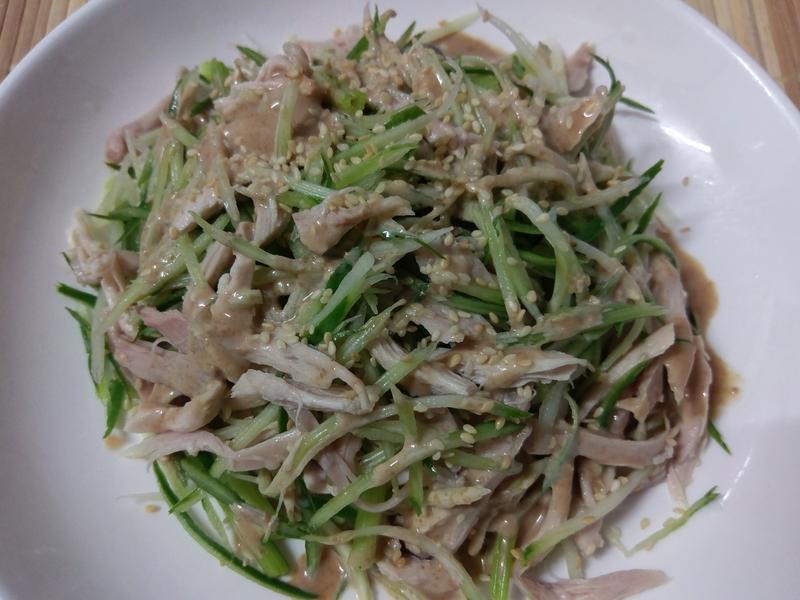かにの涼拌雞絲(年節菜變身)
