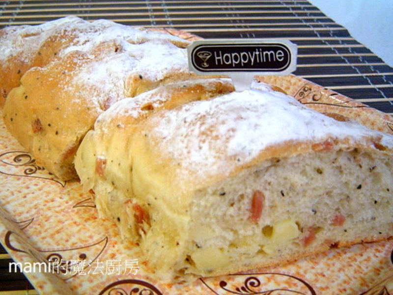 黑胡椒乳酪火腿麵包(統一麥典-免揉麵糰)