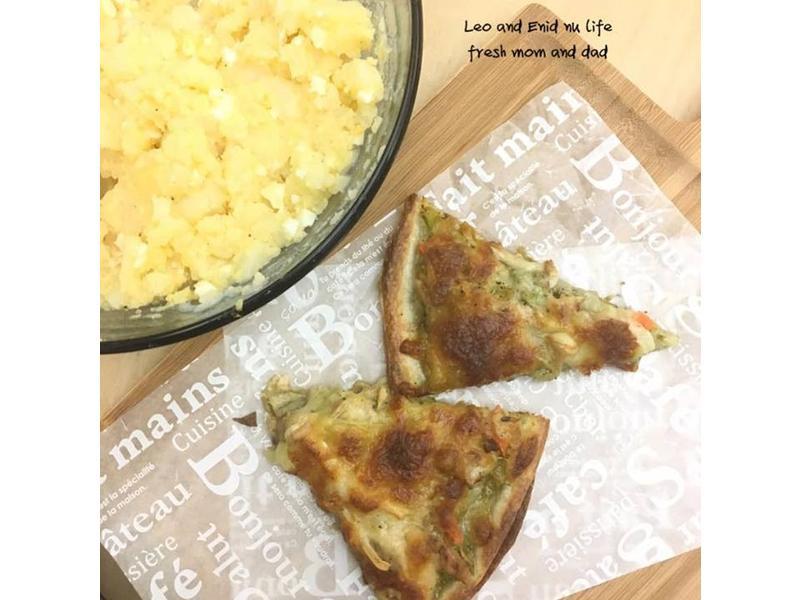 蛋餅皮•青醬鮪魚披薩⁕烤箱料理