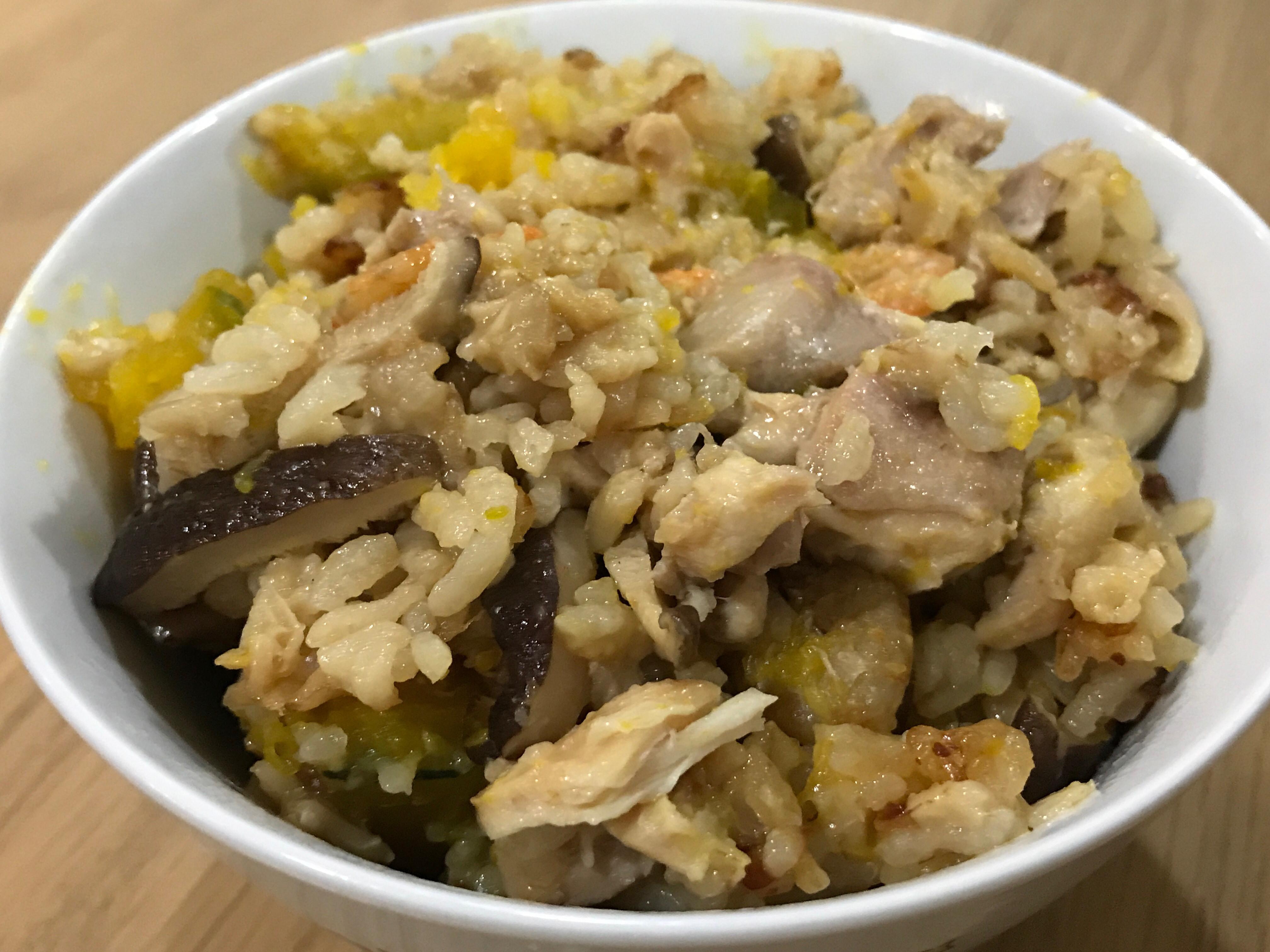 南瓜雞肉燕麥燉飯(電子鍋版)