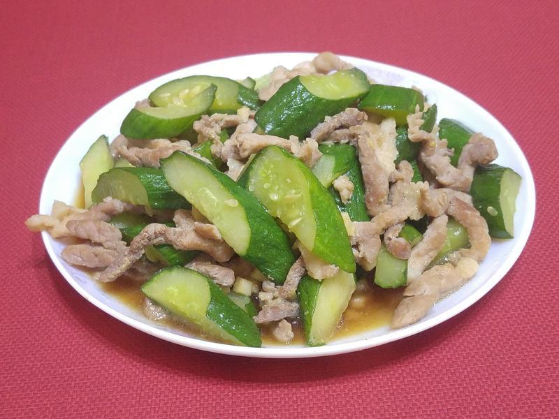 小黃瓜炒肉絲