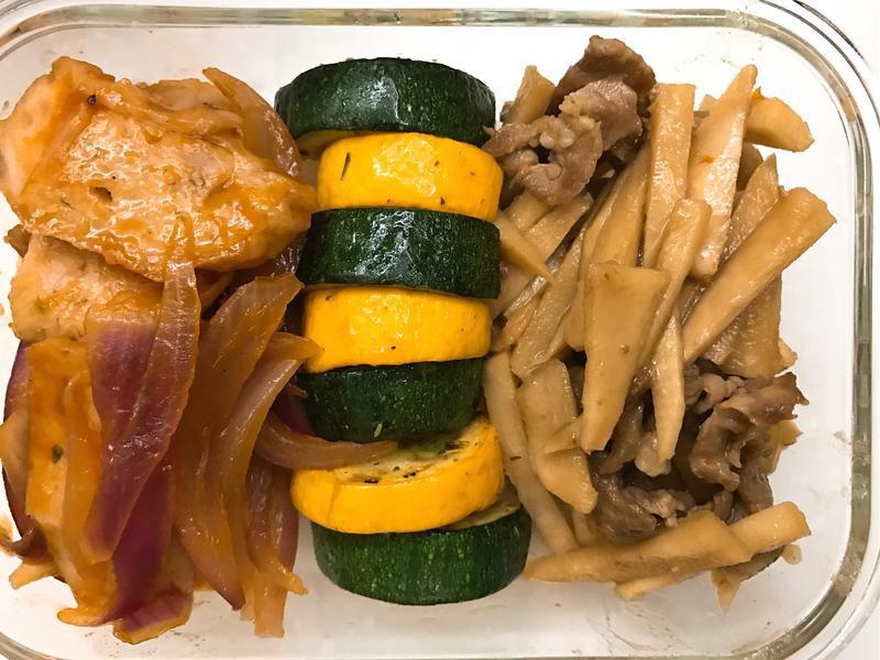 お弁当-170907-竹筍炒肉絲