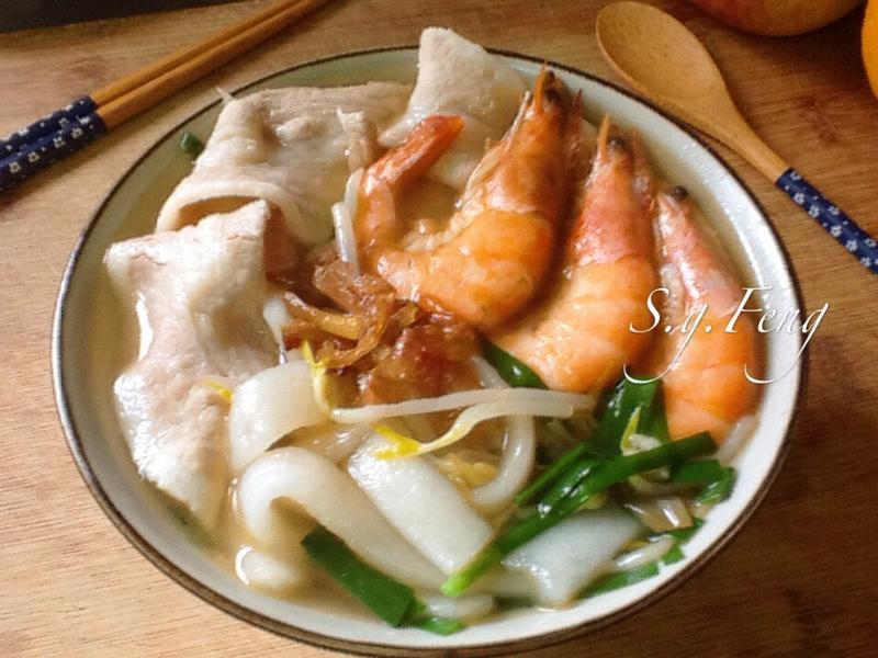 鮮蝦肉片粿仔條(湯)