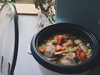 電鍋料理大蒜奶油蔬菜滷雞腿