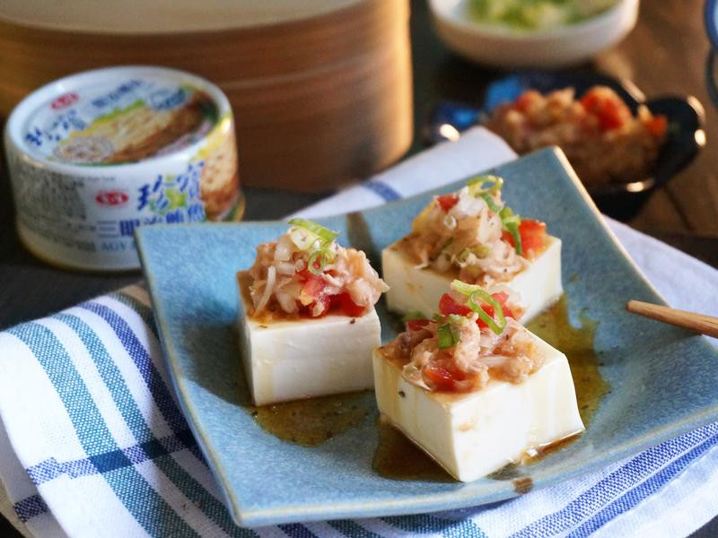 冷拌鮪魚豆腐拼盤