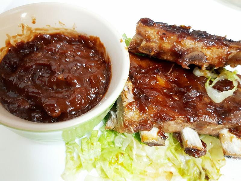 碳烤豬肋排+美式BBQ 烤肉醬