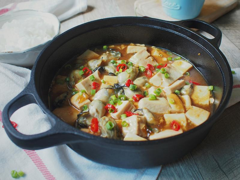 紅燒鮮蚵豆腐