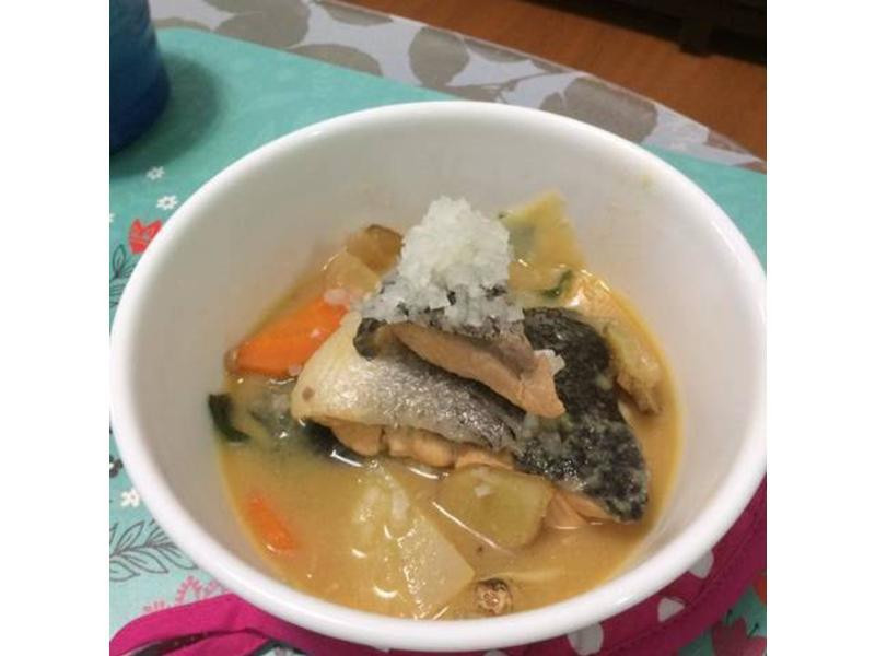 蜂蜜味噌鮭魚煮