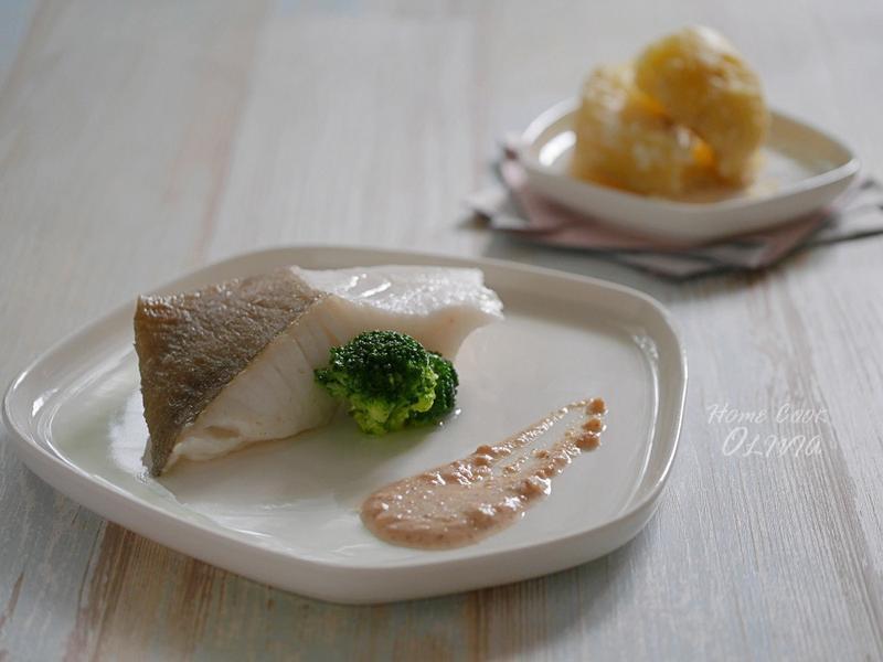 小廚娘❤清蒸扁鱈佐堅果醬#電鍋