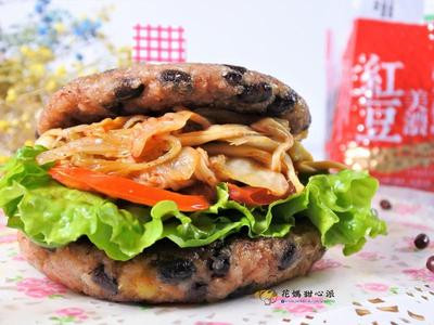泡菜鮮蔬紅豆米漢堡