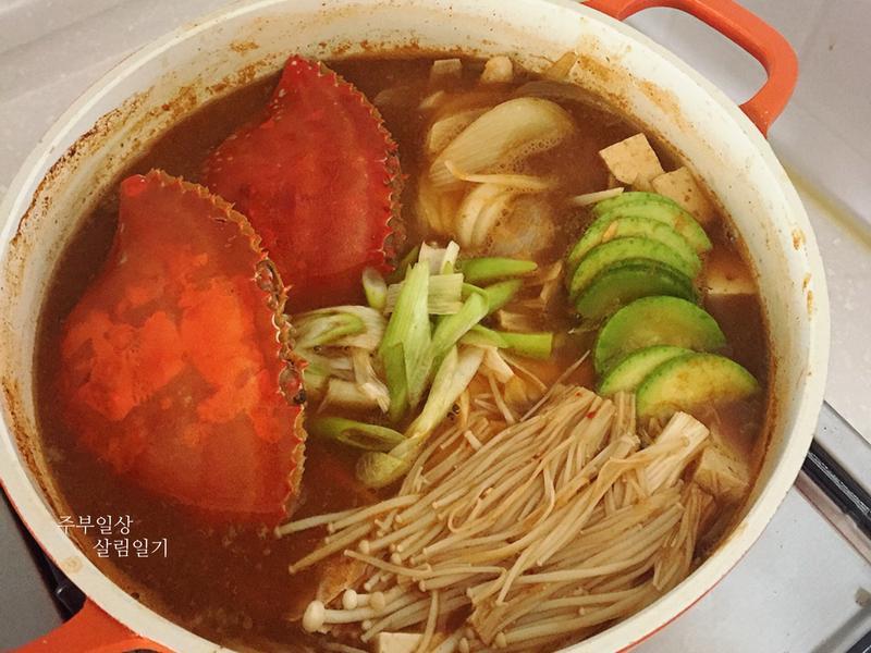 韓式花蟹湯-꽃게탕