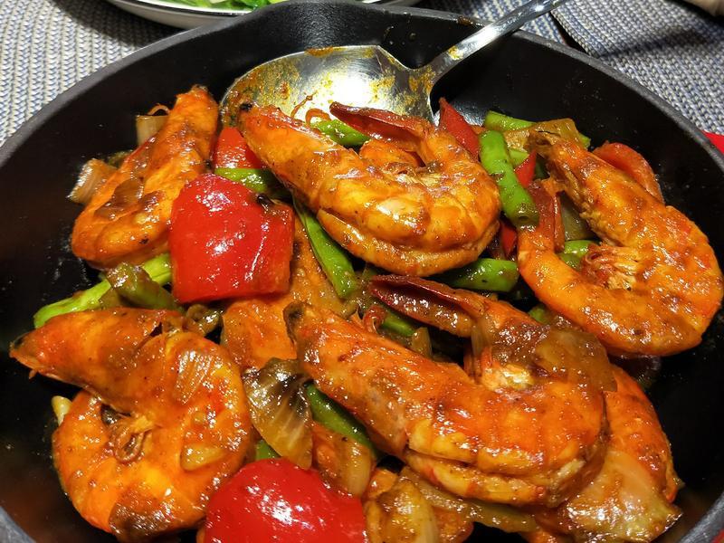 泰式黃咖哩蝦