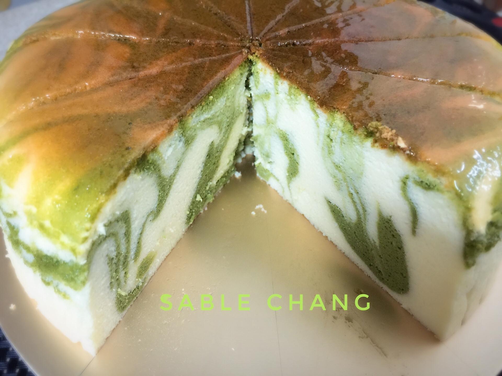 抹茶大理石紋輕乳酪蛋糕🍵