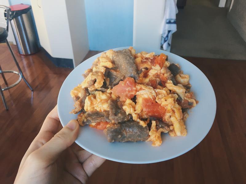 健康簡易料理—滑嫩牛肉番茄蛋