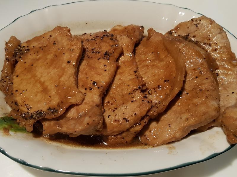 紅酒醬燒黑胡椒豬排