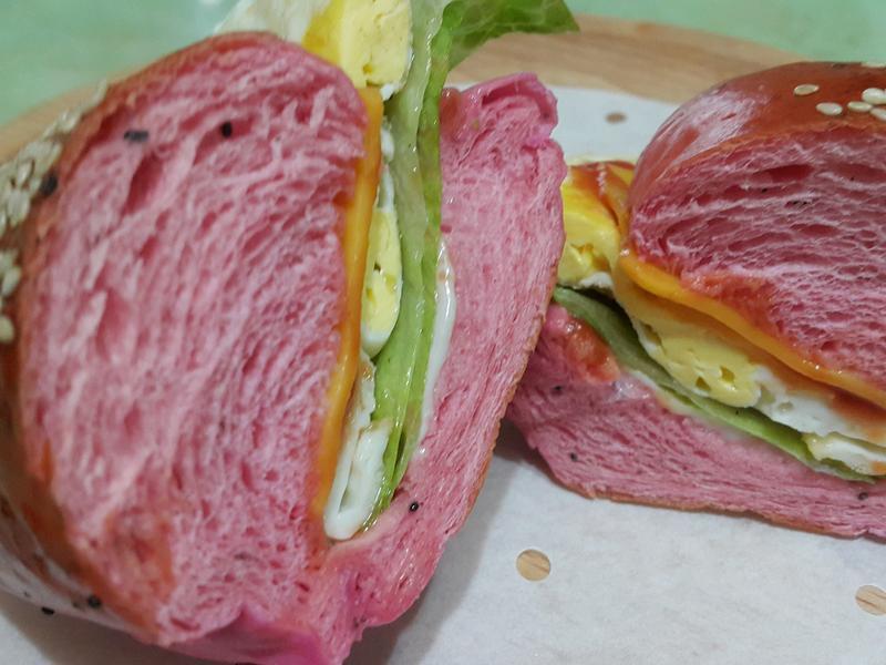 火龍果餐包漢堡麵包