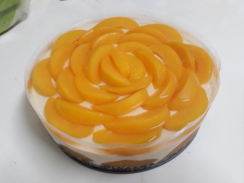 水蜜桃生乳酪蛋糕