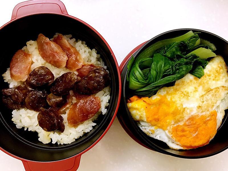 お弁当-170920-簡簡單單臘味飯
