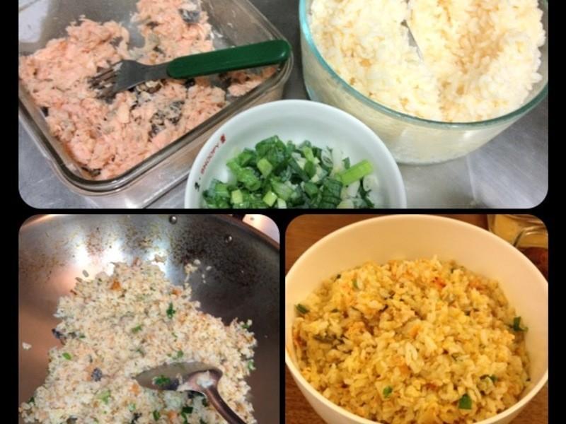 鮭魚黃金蛋炒飯