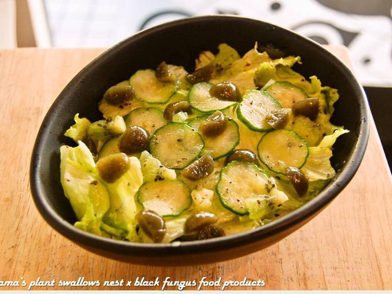 黑木耳小黃瓜萵苣沙拉.柯媽媽の植物燕窩