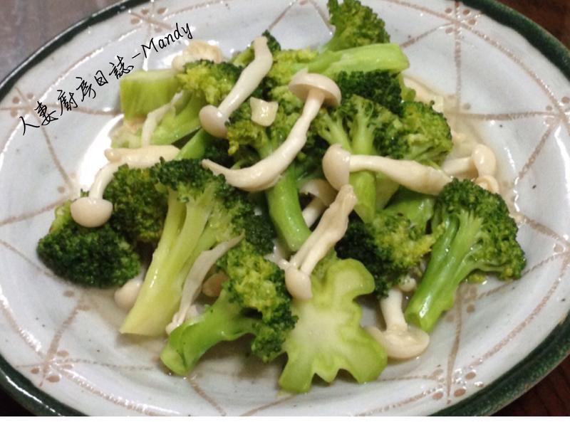 綠花椰菜佐雪白菇【好菇道好食光】