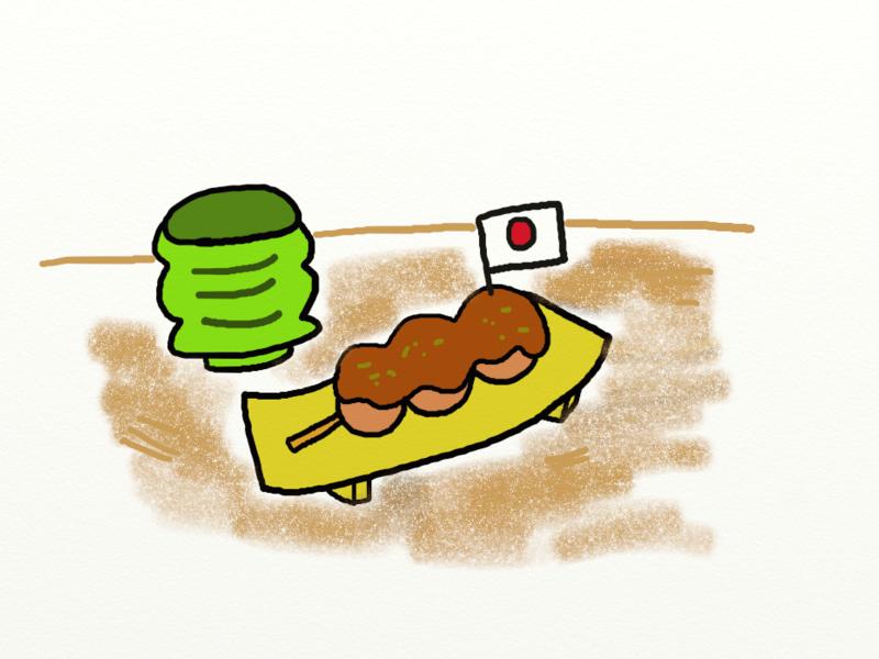 日式醬燒團子