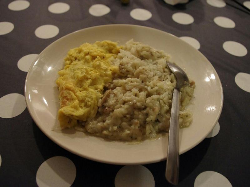 【十分輕鬆料理DIY】歐姆蛋野菇燻雞燉飯