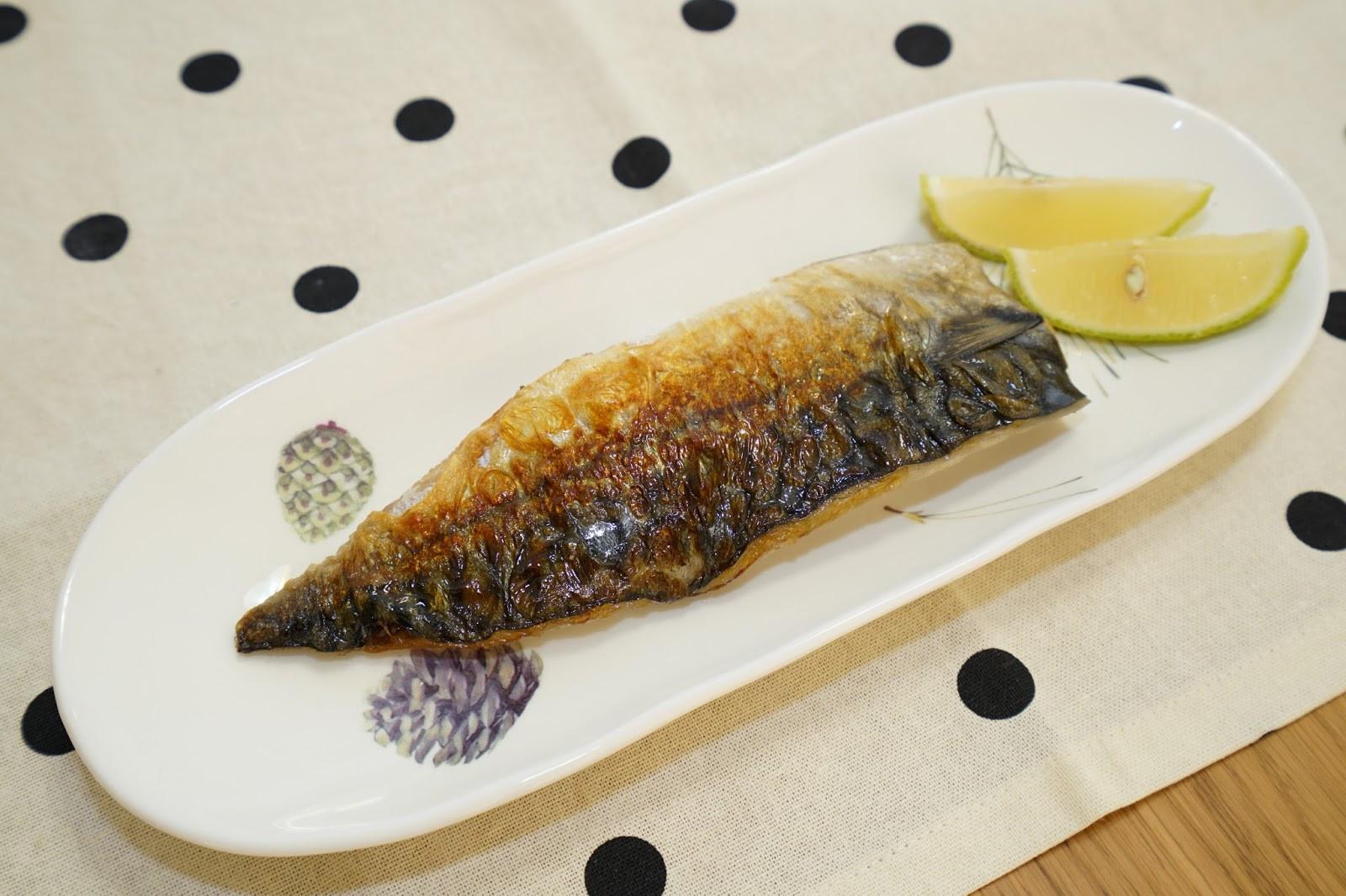 香煎鯖魚。十分鐘快速上菜!