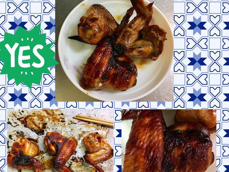 燒烤香雞翅~國際牌水波爐