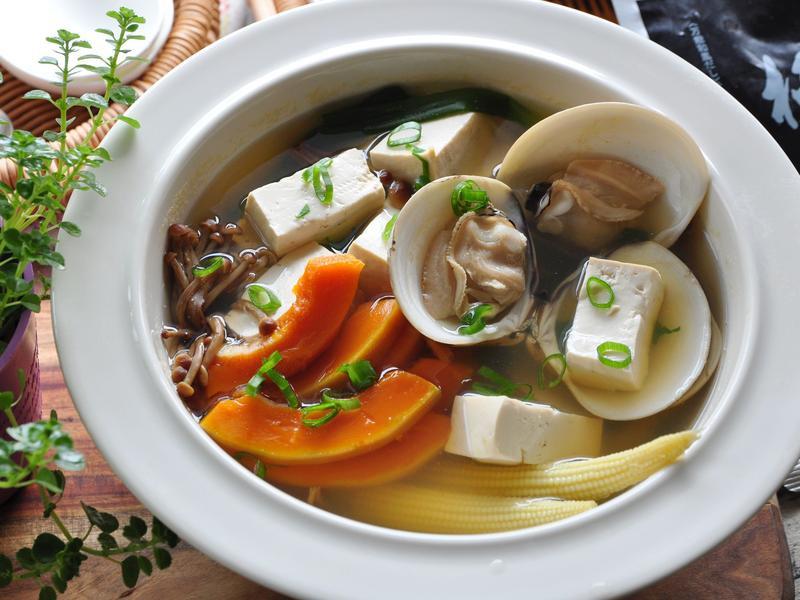 和風南瓜豆腐湯