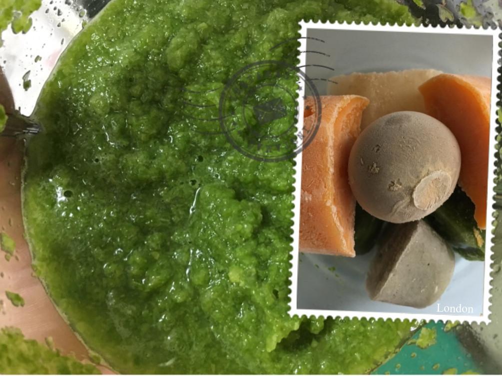 【副食品】小白菜泥 電子鍋烹飪