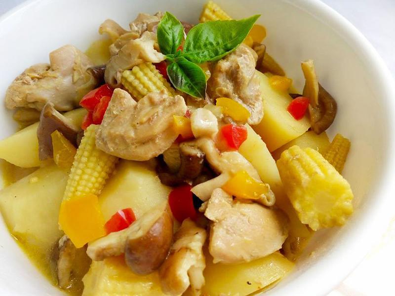 咖哩奶醬蔬菜燉雞〞一鍋搞定一餐
