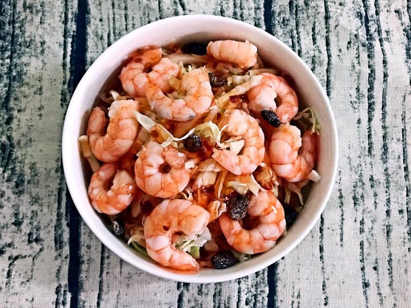 🦐泰式鮮蝦高麗菜絲(低卡路里)