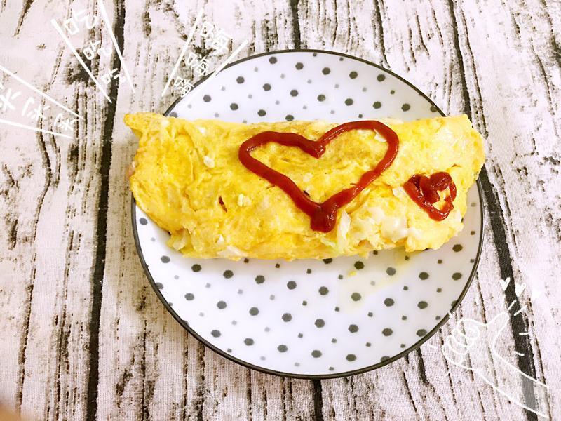 🥚蛋包高麗菜絲