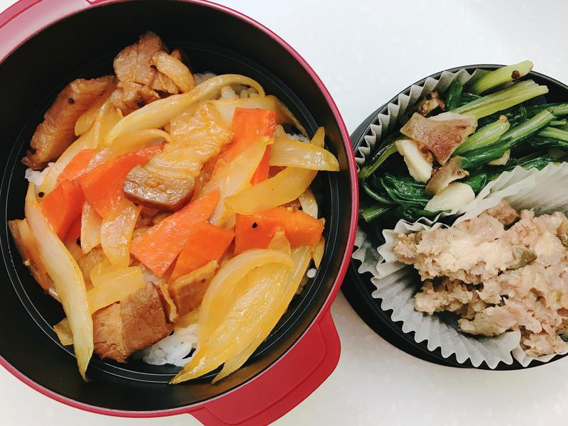お弁当-171002-茄香鹹豬肉