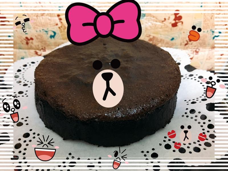 苦甜巧克力蛋糕 (6吋配方)