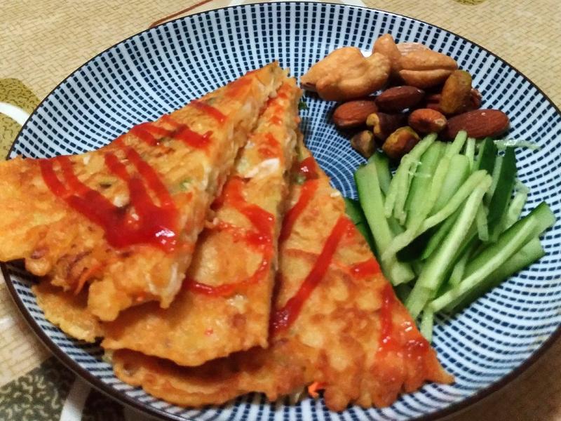 高麗菜絲泡菜煎餅