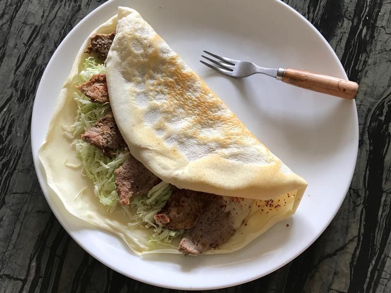 連假健身早餐🌮高蛋白起司肉捲餅