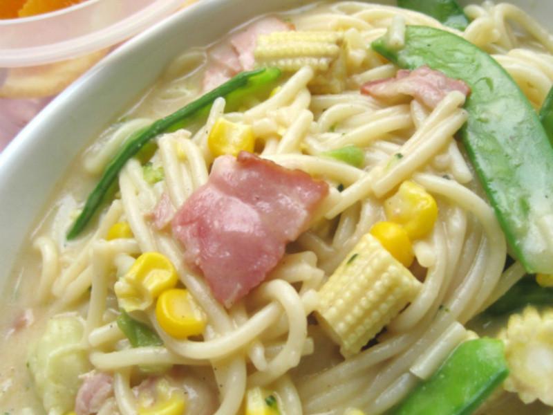 【十分輕鬆料理DIY】奶油培根玉米筍焗麵