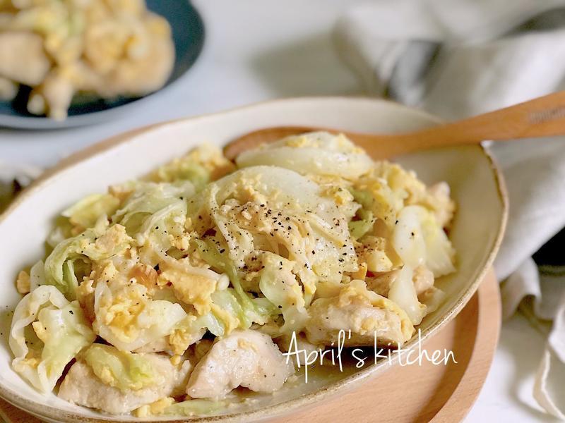 奶油高麗菜炒嫩雞片
