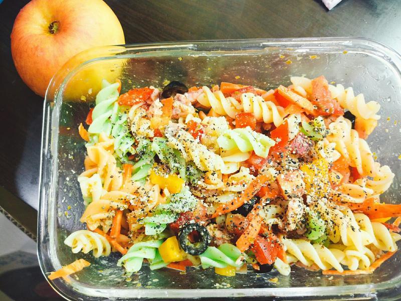 超簡單青醬三色螺旋麵沙拉
