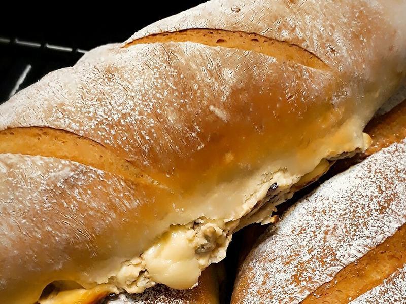 全麥爆餡奶油乳酪堅果軟法包……