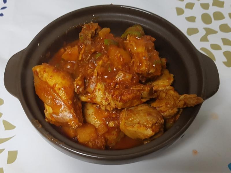 (韓式)辣炒雞湯 닭도리탕