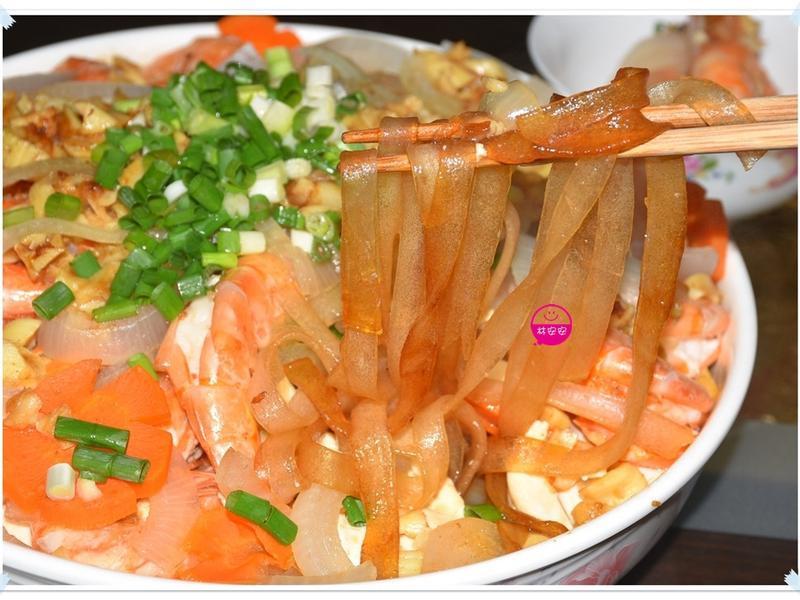 寬粉絲蒜蓉蒸蝦-懶人快速上宴客菜